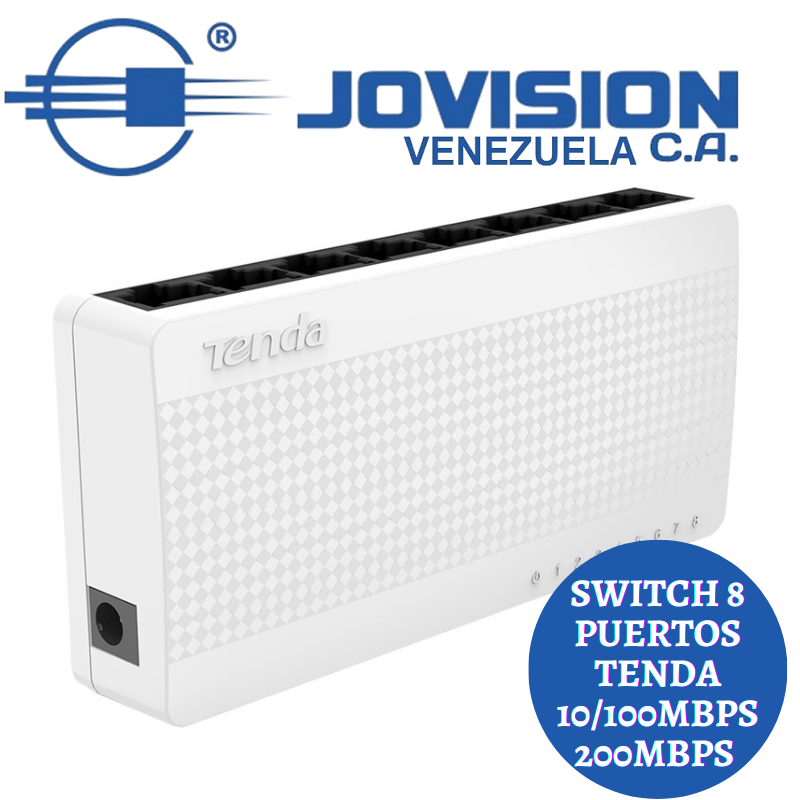 Switch 8 Puertos Tenda 10/100mbps S108 V8