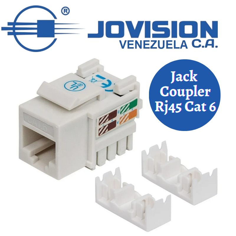 Conectores Jack/Coupler Keystone Rj45 Hembra Cat 6 Para Cable Red