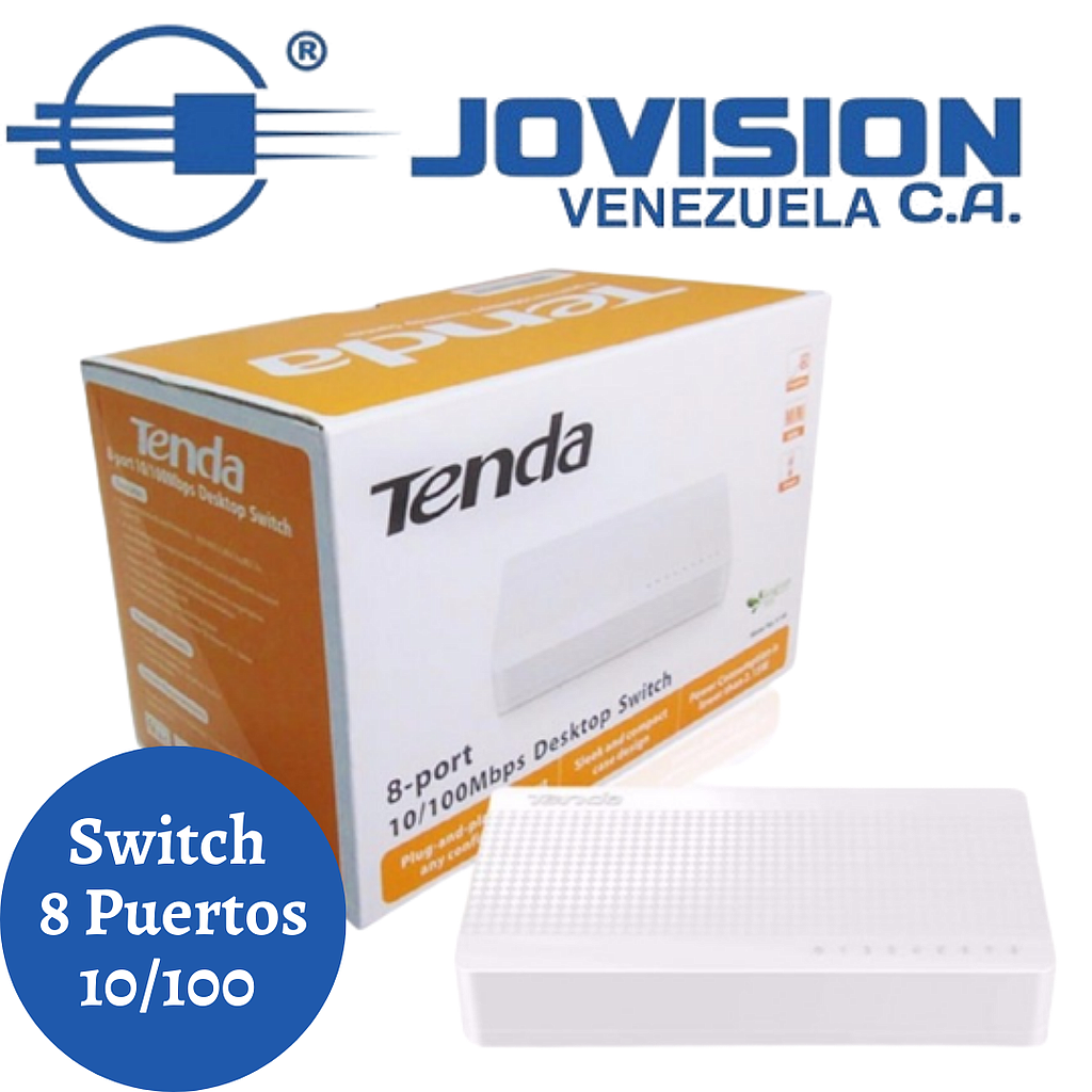 Switch 8 Puertos Tenda Mini 10/100mbps Model S108 V8