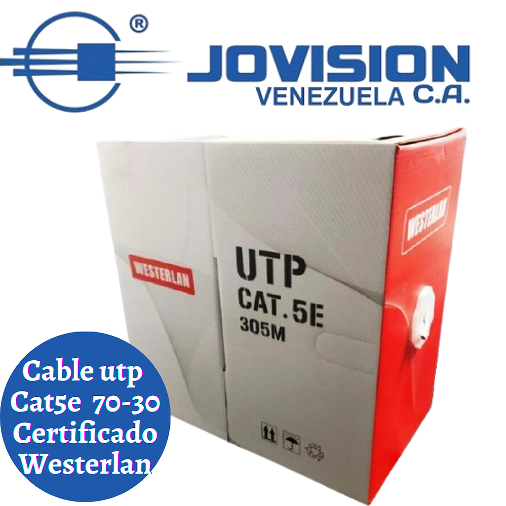 Cable utp cat 5e 70/30 de 305 Mts MKI