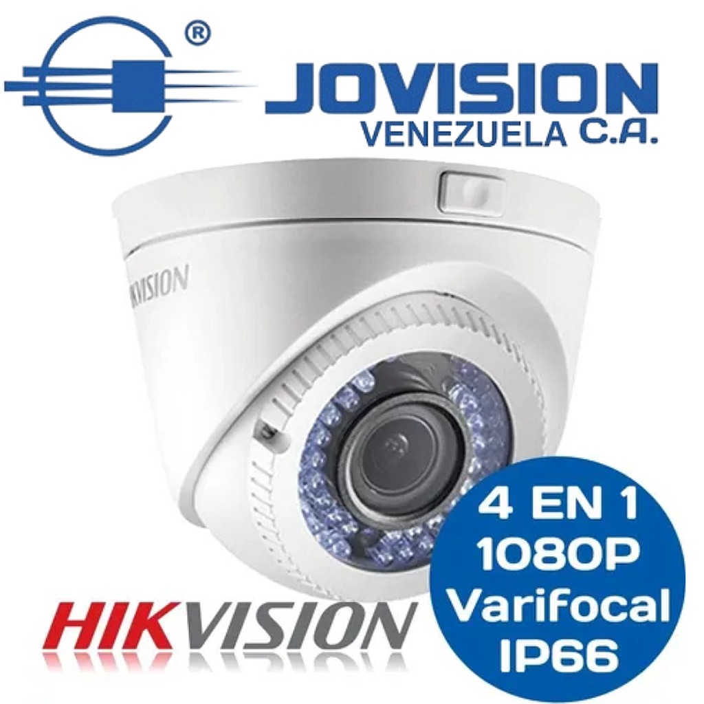 Camara Domo Varifocal 1080p Hikvision 4 en1 2Mp 2,8-12mm Ip66