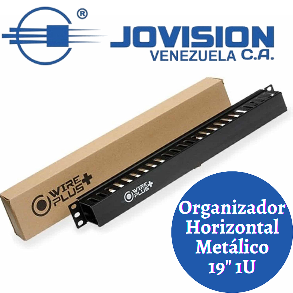 Organizador Cable Horizontal Wireplus+ 1u-AGOTADO